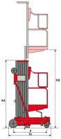 Вышки телескопические Несамоходные: LEMA LM WPAM-1-100 (АС)