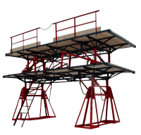 Инвентарные шарнирно-панельные подмости каменщика ПКК-1