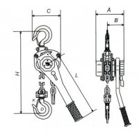 Тали ручные рычажные: LEMA LMT-0612L