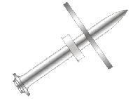 Дюбель гвозди DNW-22 для тонкой изоляции