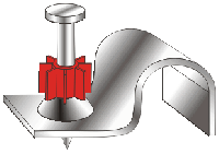 Дюбель-гвоздь КР PDCC-25P8-1/2 для монтажа электропроводки