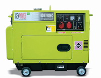 Портативная дизельная электростанция GenPower GDG 7000 E S