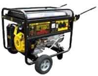 Бензиновый генератор Huter DY6500LX с колёсами и аккумулятором