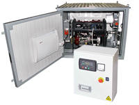 Бензиновый генератор BS 750 SA в миниконтейнере с автозапуском