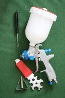 Краскопульт HYVST пневматический с верхним бачком