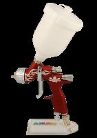 Краскопульт Devilbiss GTI PRO LITE красный с черепом