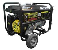 Бензиновый генератор Huter DY8000LX с колёсами