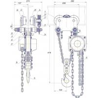 Таль ручная передвижная шестеренная грузоподъемностью 2 тонны ТРШБп-2,0-У1.1 ТУ 24.09.785-00