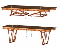 Инвентарные шарнирно-панельные подмости каменщика ПКК-1М